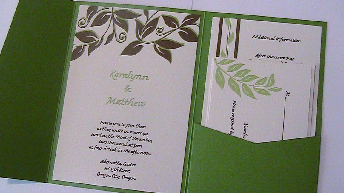 Earthy Green | Purple Peonies Wedding Invitations