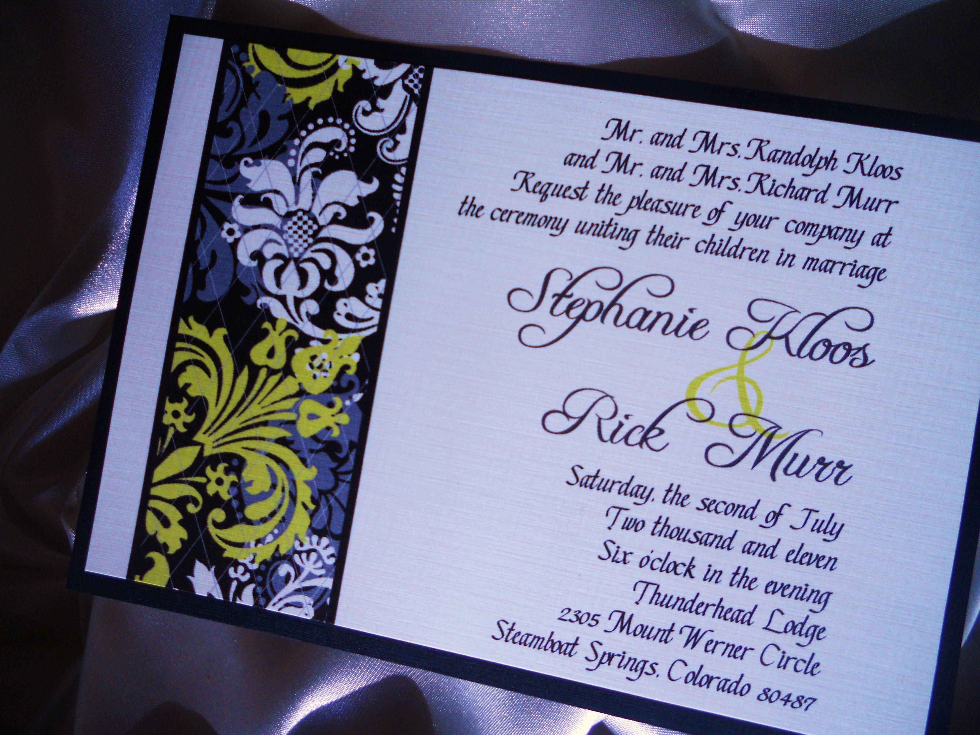 Purple Peonies Wedding Invitations